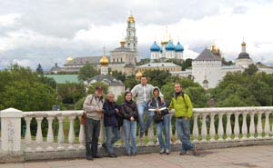 Student on excursion at Sergiev Posad