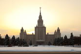 Moscow State University in Wintertime